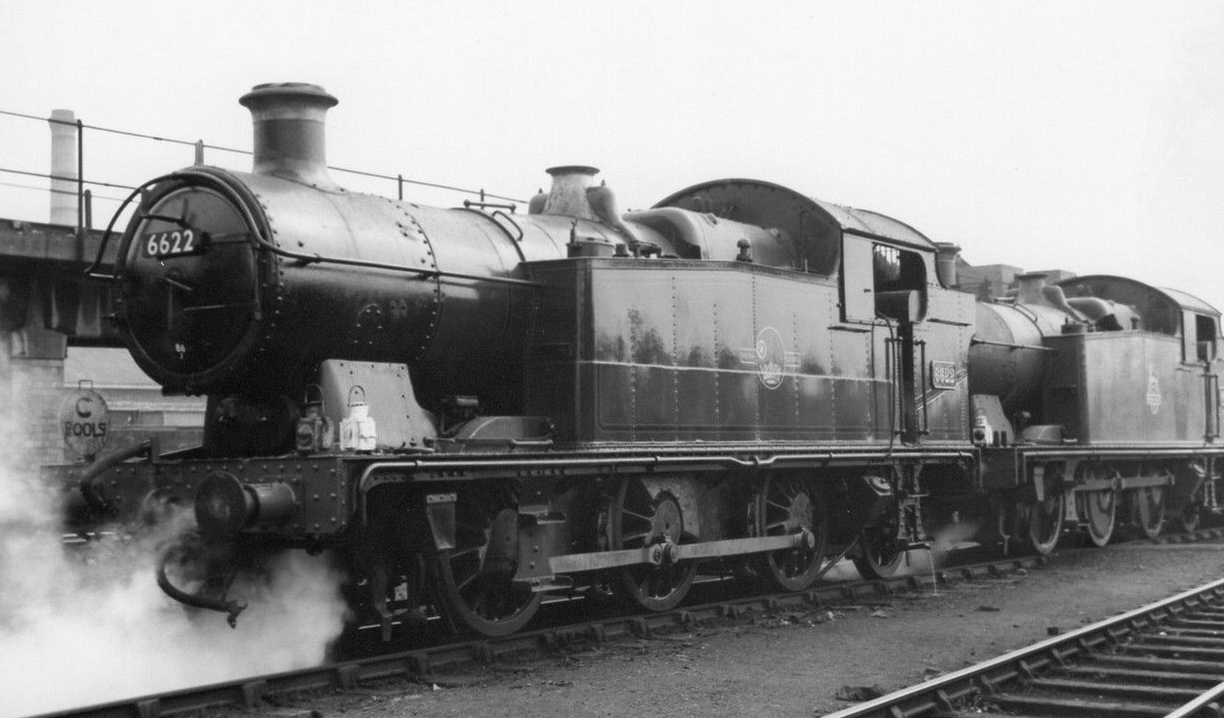 GWR No.6622 at Cardiff Cathays 1957