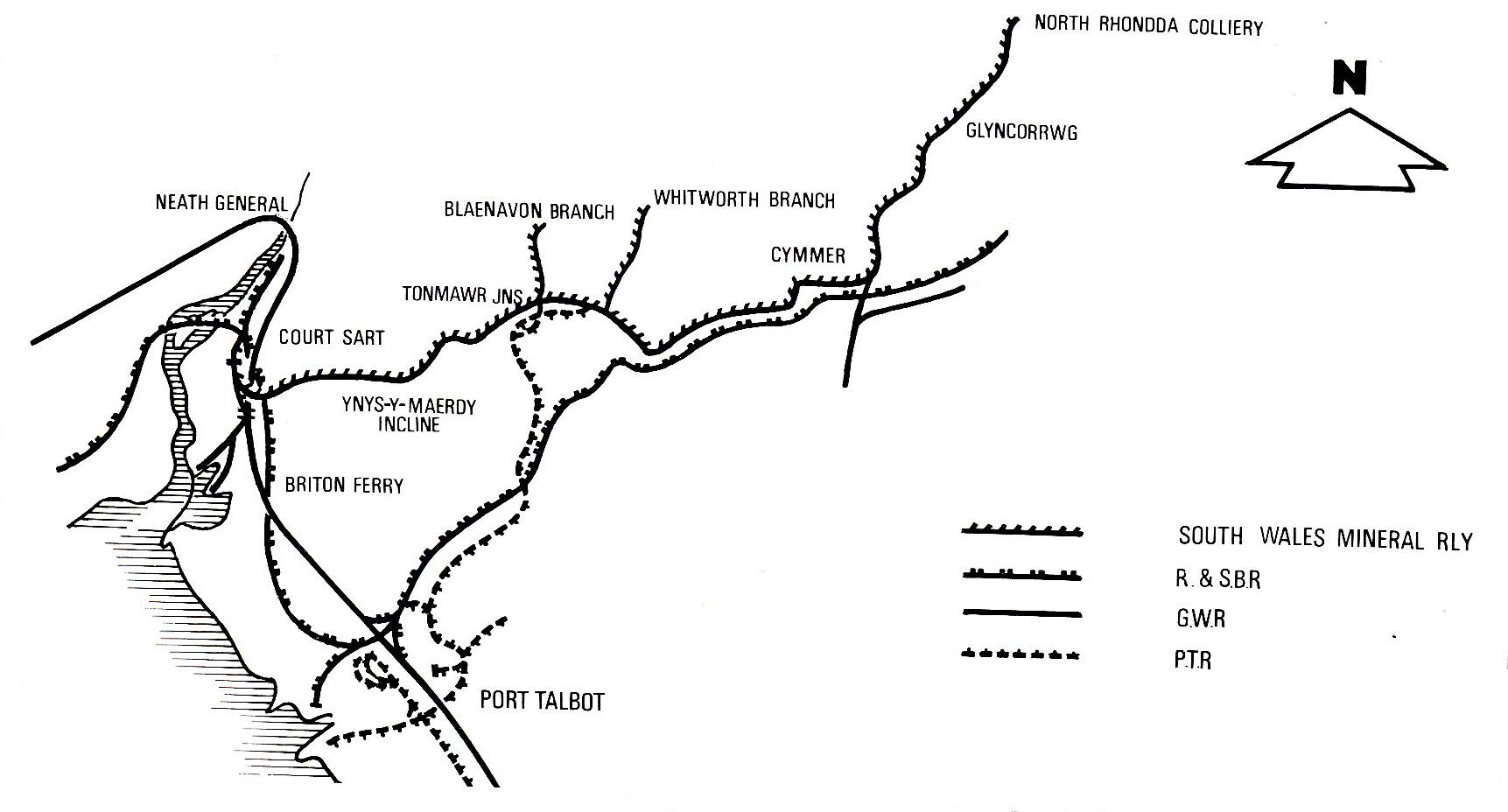 South Wales Mineral Railway Map